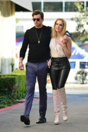 Saxon Sharbino with Her Friend Out for lunch in Los Angeles, March 10, 2021 6