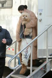 Selena Gomez with her Pet arrives on the Set of 'Only Murders in the Building' in New York 03/10/2021 3