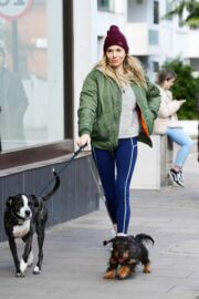 Sienna Miller Steps Out with Her Dogs in London 03/14/2021 1
