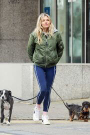 Sienna Miller Steps Out with Her Dogs in London 03/14/2021 5