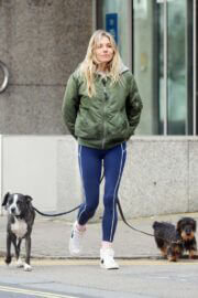 Sienna Miller Steps Out with Her Dogs in London 03/14/2021 7