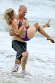 Sonja Marcelline and Mike Gunner Enjoys at a Beach in Gold Coast 02/23/2021 1