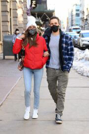 Tayshia Adams and Her Fiance Zac Clark Out in New York 02/21/2021 2