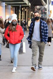 Tayshia Adams and Her Fiance Zac Clark Out in New York 02/21/2021 3