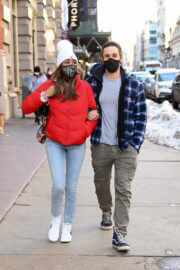 Tayshia Adams and Her Fiance Zac Clark Out in New York 02/21/2021 5