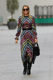 Vogue Williams is Seen Arriving at Heart Radio in London 03/14/2021 6