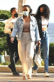 Lori Harvey Day Out for Lunch with Friends in Malibu 03/25/2021 5