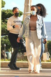 Lori Harvey Day Out for Lunch with Friends in Malibu 03/25/2021 7
