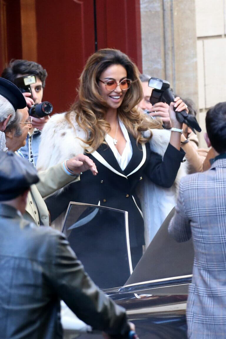 Madalina Diana Ghenea Seen on the Set of House of Gucci in Rome 03/22/2021 1