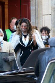 Madalina Diana Ghenea Seen on the Set of House of Gucci in Rome 03/22/2021 3