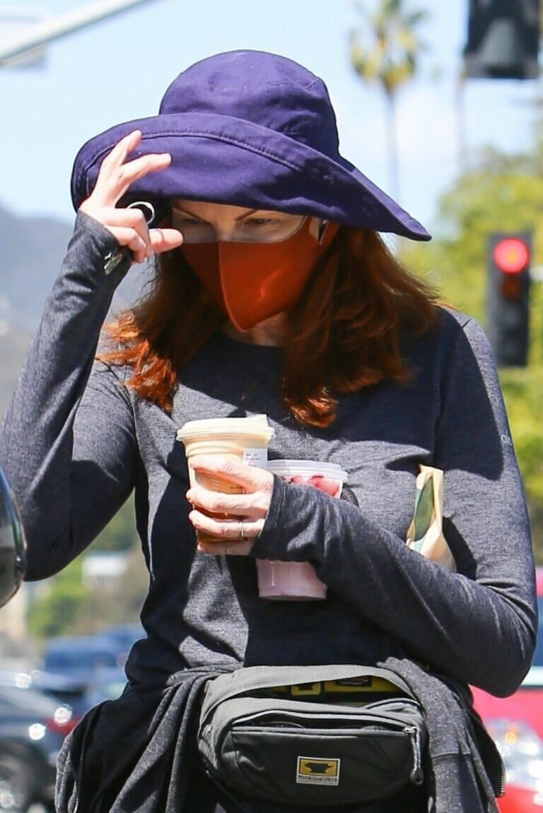 Marcia Cross Spotted at a Starbucks in Brentwood 03/22/2021 1