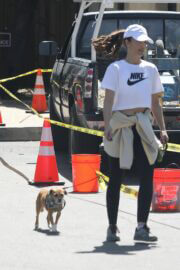 Minka Kelly Hikes with Her Dog in Hollywood Hills 03/22/2021 2