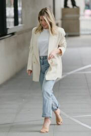 Mollie King is Seen Arriving at BBC studio 1 in London 03/20/2021 1
