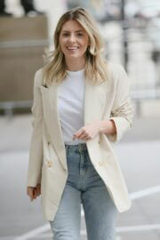 Mollie King is Seen Arriving at BBC studio 1 in London 03/20/2021 2