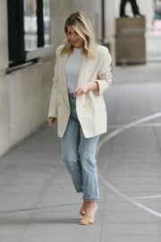 Mollie King is Seen Arriving at BBC studio 1 in London 03/20/2021 3