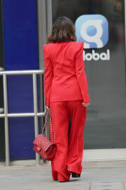 Myleene Klass in Red Arriving at Smooth Radio in London 03/20/2021 4
