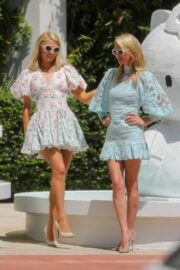Paris and Nicky Hilton is Leaving W Hotel in Miami Beach 03/24/2021 1
