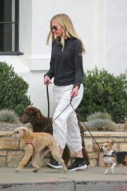 Portia de Rossi Steps Out with Her Dog in Montecito 03/22/2021 3