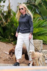 Portia de Rossi Steps Out with Her Dog in Montecito 03/22/2021 7