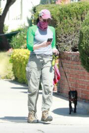 Sarah Silverman Day Out with Her Dog in Los Feliz 03/22/2021 3