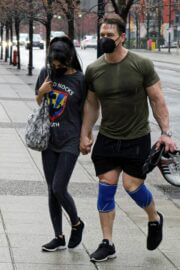 Shay Shariatzadeh and John Cena is Leaving a Gym in Vancouver 03/21/2021 3