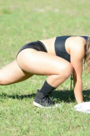 Stephanie Marie Seen During Workout at a Park in Miami 03/22/2021 2