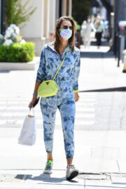 Alessandra Ambrosio in Tie-dye Jumpsuit Steps Out For Shopping in Brentwood 05/19/2021 2