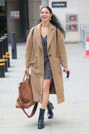 Vick Hope Seen Arriving at Morning Live TV in London 03/24/2021 2