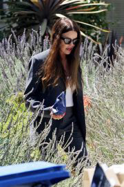 American Model Janice Dickinson seen in Black Outfits Out in Los Angeles 06/30/2021 2