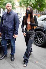 Bella Hadid shows her abs out in Paris 06/30/2021 1
