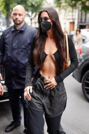Bella Hadid shows her abs out in Paris 06/30/2021 8
