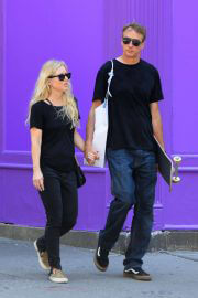 Catherine Goodman with her husband Tony Hawk Out and About in New York 06/30/2021 6