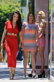 Christine Quinn, Davina Potratz and Maya Vander on the Set of Selling Sunset in West Hollywood 06/30/2021 11