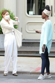Michelle Monaghan and Anna Diop on the Set of Nanny in New York 06/29/2021 2