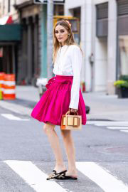 Olivia Palermo seen in White and Pink Outfit Out in New York 06/29/2021 1