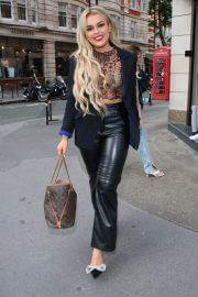 Tallia Storm in Black Outfit at Boohoo x Emily Shak Launch in London 06/30/2021 1