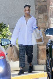 Tessa Thompson Out Shopping in West Hollywood 06/28/2021 2
