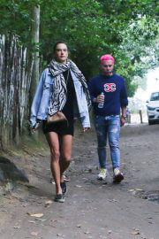 Alessandra Ambrosio Out with Friends in Trancoso 08/02/2021 5