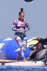 Alicia Keys in Wetsuit During Slide at a Yacht in South of France 08/03/2021 4