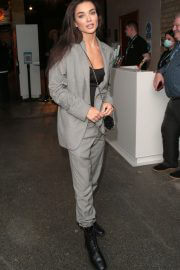 Amy Jackson seen in Stylish Grey Black Outfit at Van Gogh Exhibit in London 08/03/2021 5