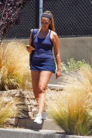 April Love Geary After Leaves Playing Tennis at Malibu Racquet Club 08/02/2021 6