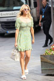 Ashley Roberts in Floral Print Dress at Heart Radio in London 08/04/2021 3