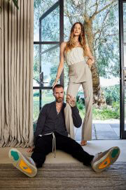 Behati Prinsloo and Adam Levine Cover Photoshoot in Architectural Digest Magazine, August 2021 2