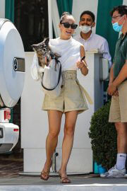 Cara Santana leaves at San Vicente Bungalows in West Hollywood 08/02/2021 5