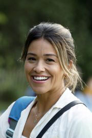 Gina Rodriguez and Liza Koshy on the Set of Players in Brooklyn 08/02/2021 8