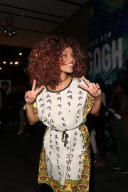Izzy Bizu attends Van Gogh Immersive Experience Private View in London 08/03/2021 9