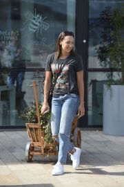 Jessica Ennis-Hill in Black Top and Ripped Denim at Media City in Salford 08/03/2021 3