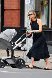 Karlie Kloss Out with Her Baby Levi Kloss in New York 08/03/2021 9