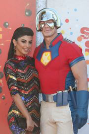 Shay Shariatzadeh and John Cena at The Suicide Squad Premiere in Westwood 08/20/2021 3