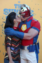 Shay Shariatzadeh and John Cena at The Suicide Squad Premiere in Westwood 08/20/2021 5